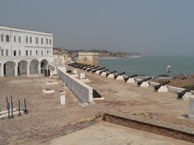 Cape Coast castle i Ghana, eller Carolusborg som det hette på svenskarnas tid.