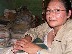 Sandra Garcia slogs i mer än 20 år för gerillagruppen De fattigas armé i Guatemala. Idag arbetar hon som arkivarie.