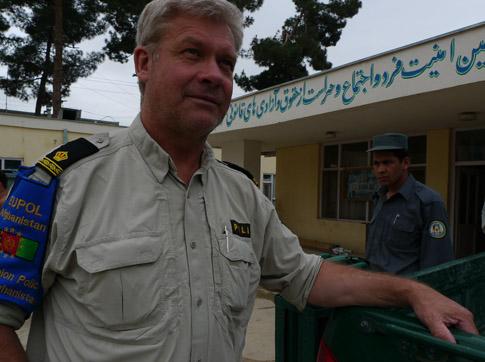 Ulf Strahl som är chef för de svenska poliserna i Afghanistan.